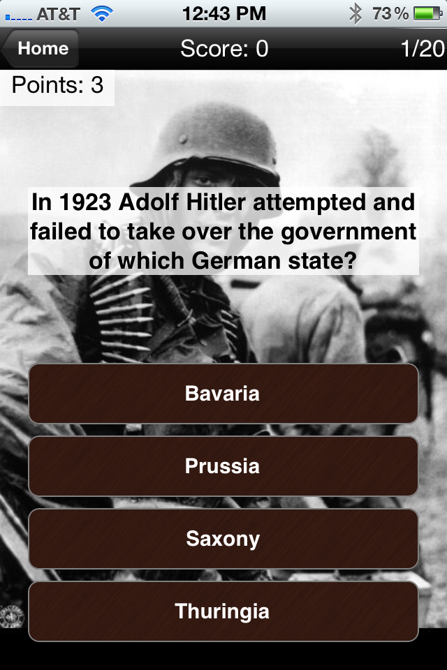 Screenshot Hitler's Germany: History Challenge Lite