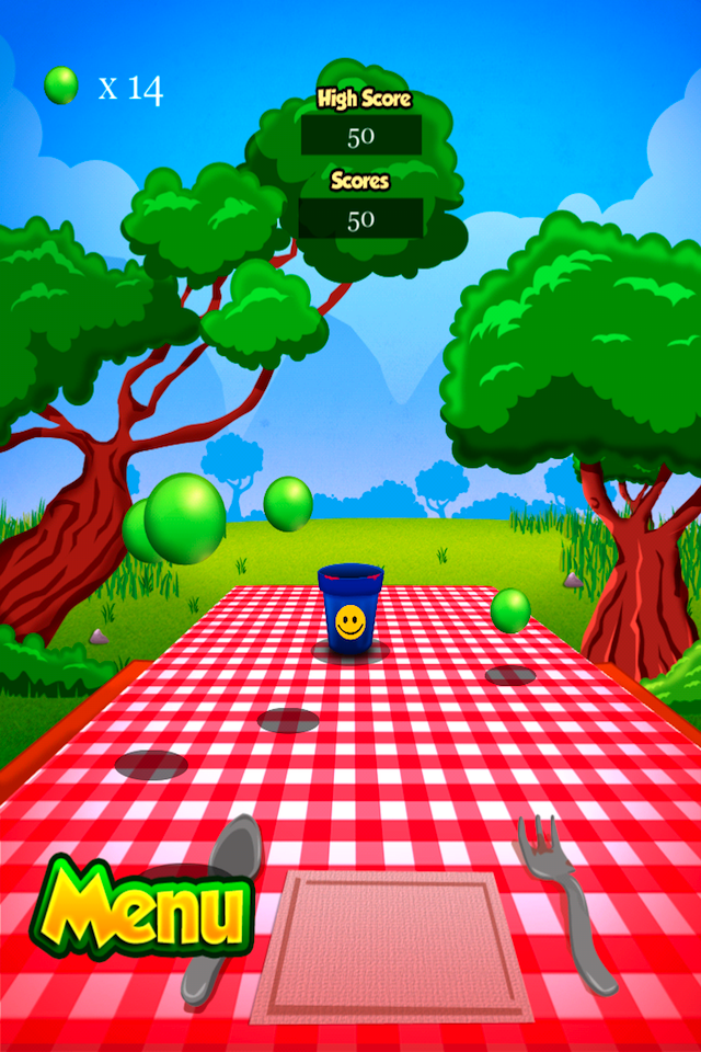 Screenshot Cup Ball Shooter
